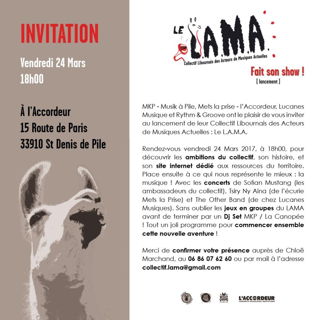 invitation lancement lama